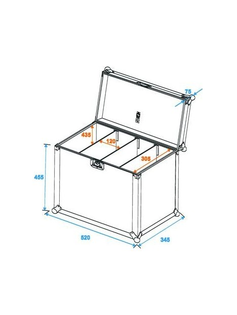 Flightcase for 4x SLS et plano spot, taille L