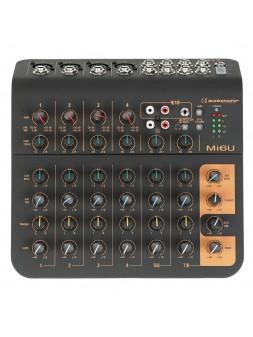 Audiophony - Mi6U Mixer 6 canaux, 4 microphone, 2 stéréo, 1 Aux et port USB - 10911