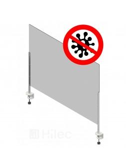 Hilec - Écran de protection (Coronavirus - Covid-19) en plexiglas 100 x 75 cm avec fixations
