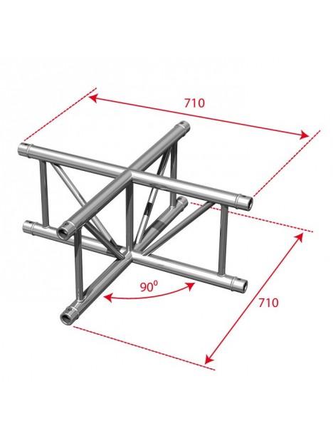 AGDUO29-06 - Angle échelle 4 directions 90° droit