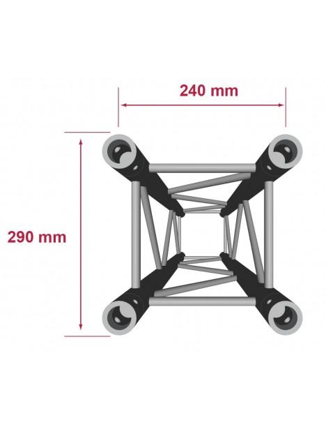 QUA29-300 - Quatro aluminium 290mm longueur 300cm