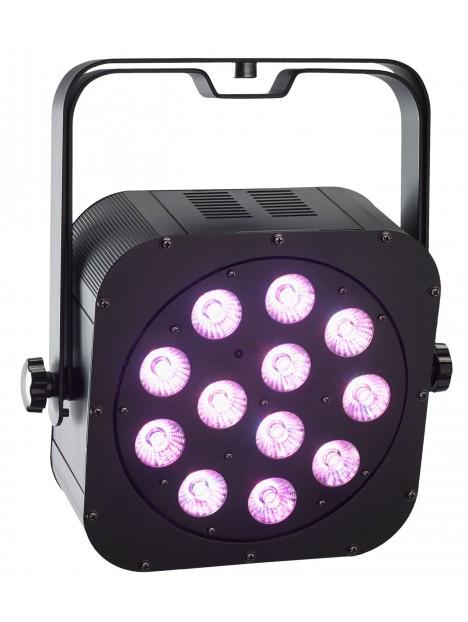 irLEDFLAT-12x12SIXb - Proj plat à 12 LEDs 6en1 12W (RGBWA+UV) TélecIR