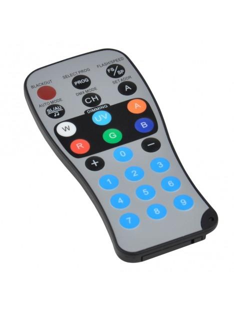 irLEDFLAT-5x12SIXb - Proj plat à 5 LEDs 6en1 12W (RGBWA+UV) TélecIR