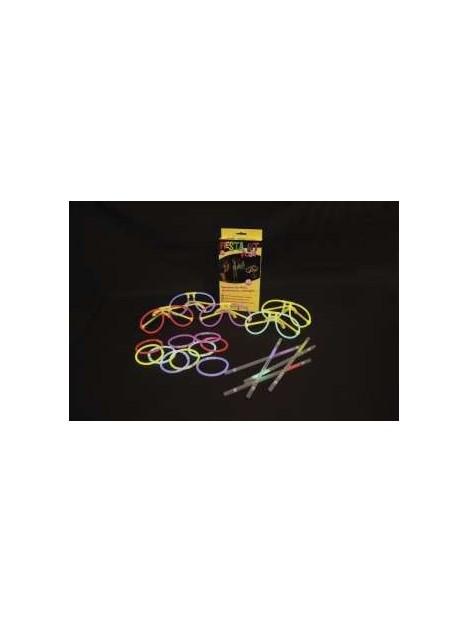 FIESTA Kit fluo 25pcs (5 Colliers - 5 Bracelets - 5 Lunettes - 5 Pailles)