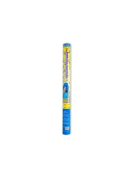 Canon à confettis multicolores 60cm