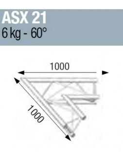ASD - ANGLE ALU 290 2 DEPARTS 60° - ASX21M
