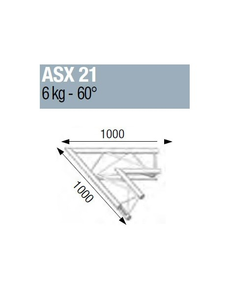ASD - ANGLE ALU 290 2 DEPARTS 60°