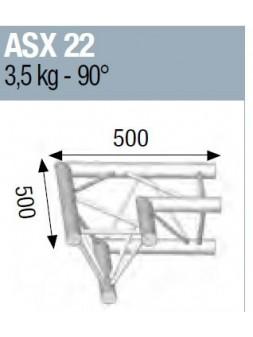 ASD - ANGLE ALU 290 2 DEPARTS 90° - ASX22M