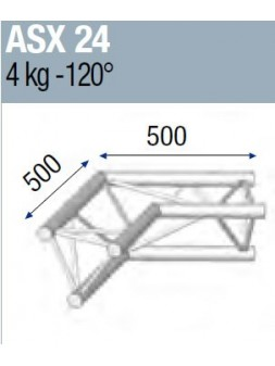 ASD - ANGLE ALU 290 2 DEPARTS 120° - ASX24M
