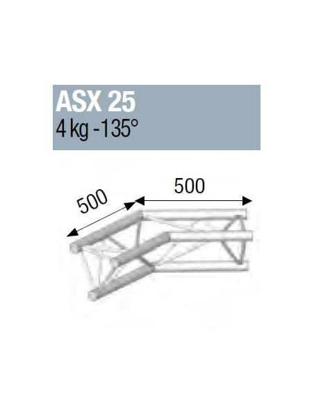 ASD - ANGLE ALU 290 2 DEPARTS 135° - ASX25M