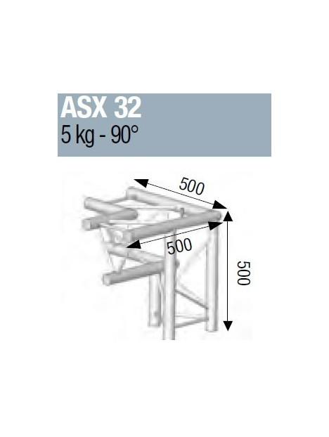 ASD - ANGLE ALU 290 3 DEPARTS 90° PIED DROIT