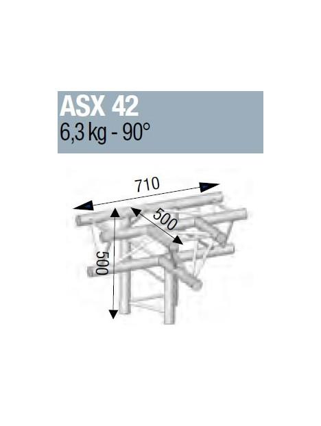 ASD - ANGLE ALU 290 4 DEPARTS 90° HORIZONTAL/PIED