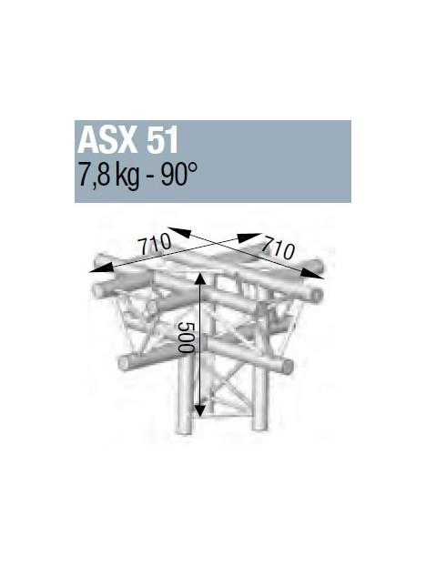 ASD - ANGLE ALU 290 5 DEPARTS HORIZONTAL/PIED