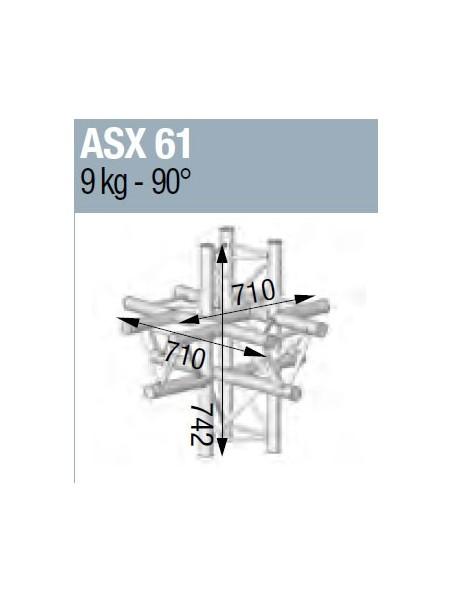 ASD - ANGLE ALU 290 6 DEPARTS - ASX61M