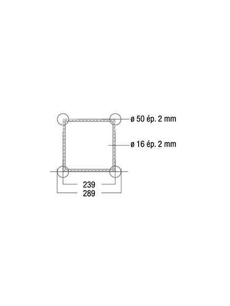 ASD - Structure alu carrée 290 4m (fournis sans kit)