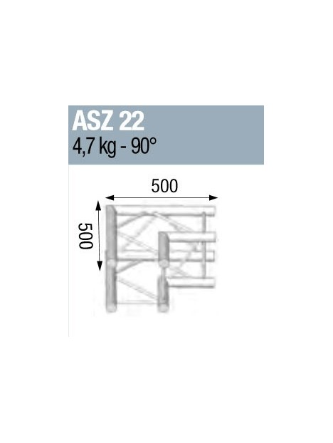 ANGLE ALU 290 CARREE 2 DEPARTS 90°