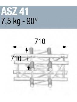 ASD - ANGLE ALU 290 CARREE 4 DEPARTS HORIZONTAL - ASZ41M