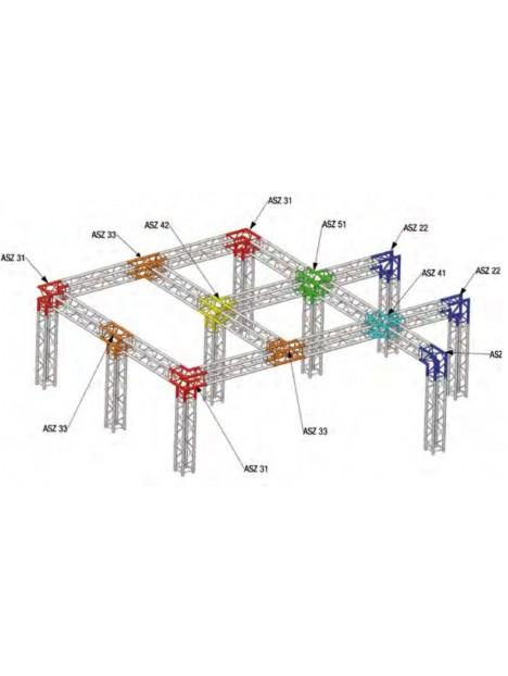 ANGLE ALU 290 CARREE 4 DEPARTS HORIZONTAL