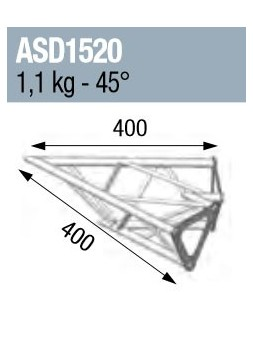 ASD - ANGLE 2D 45° SECTION 150 ALU TRIANGULAIRE - ASD1520