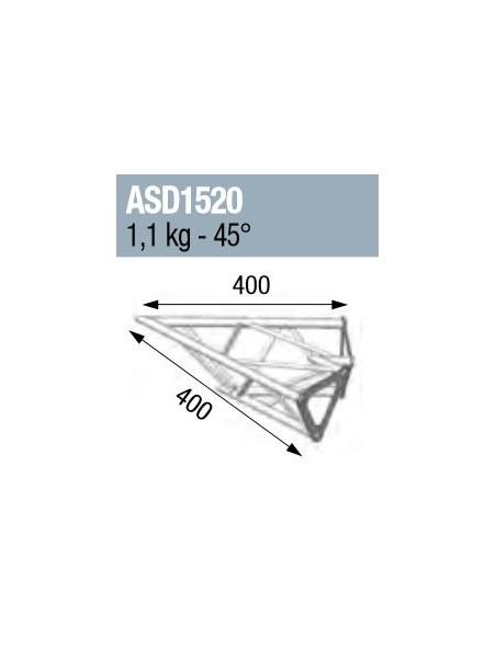 ASD - ANGLE 2D 45° SECTION 150 ALU TRIANGULAIRE - ASD1520