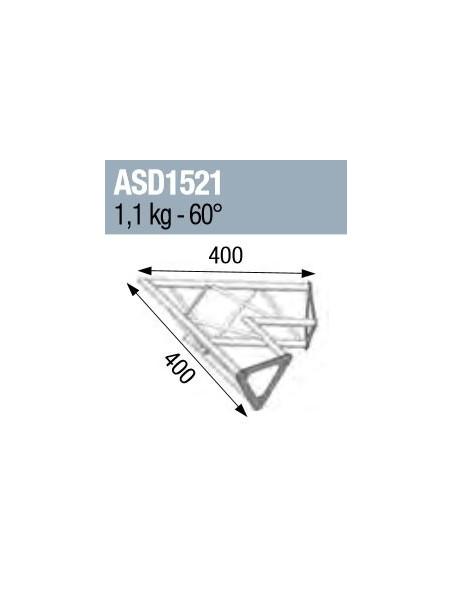 ASD - ANGLE 2D 60° SECTION 150 ALU TRIANGULAIRE - ASD1521