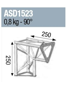 ASD - ANGLE 2D 90° SECTION 150 ALU TRIANGULAIRE - ASD1523