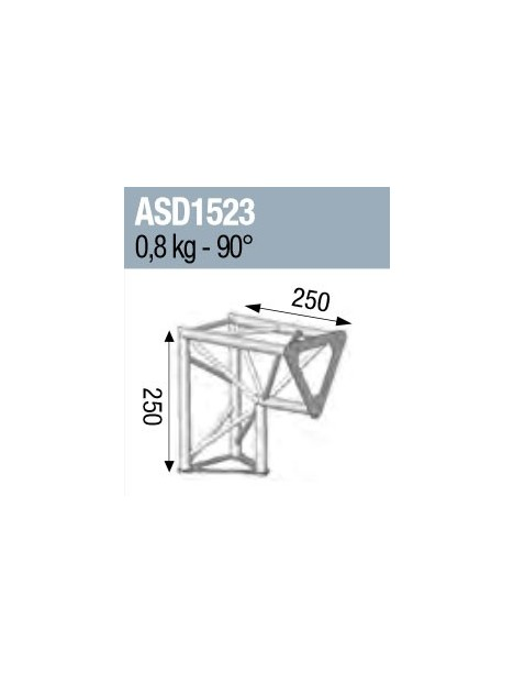 ANGLE 2D 90° SECTION 150 ALU TRIANGULAIRE