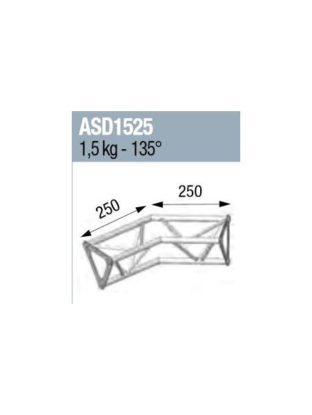 ASD - ANGLE 2D 135° SECTION 150 ALU TRIANGULAIRE - ASD1525