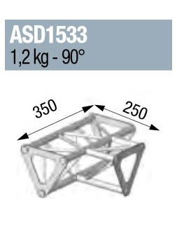 ASD - ANGLE 3D 90° SECTION 150 TRIANGULAIRE ALU - ASD1533