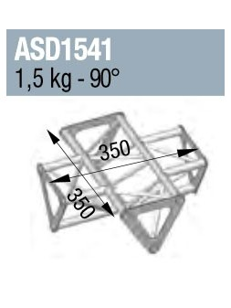 ASD - ANGLE 4D 90° SECTION 150 TRIANGULAIRE ALU - ASD1541