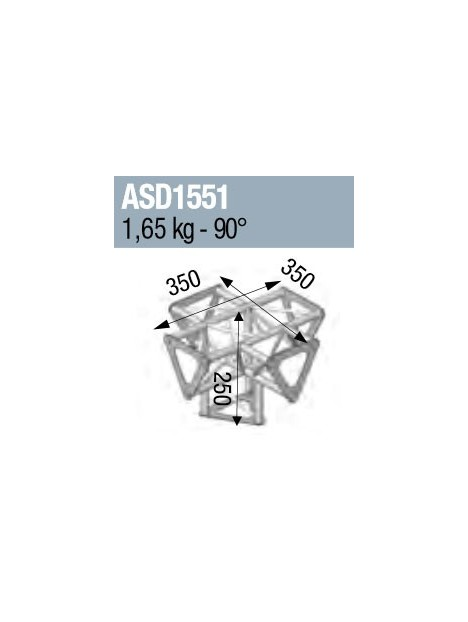 ANGLE 5D 90° SECTION 150 TRIANGULAIRE  ALU