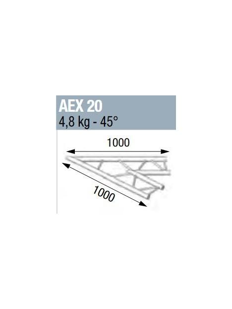 ASD - ANGLE 45° POUR ECHELLE PLATE 290 - AEX20