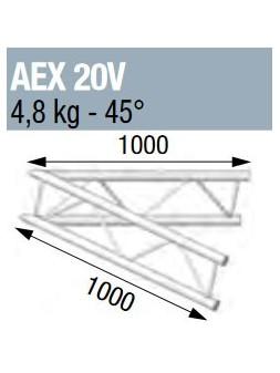 ASD - ANGLE 45° POUR ECHELLE VERTICALE 290 - AEX20V
