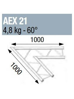 ASD - ANGLE 60° POUR ECHELLE PLATE 290 - AEX21