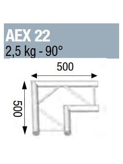 ASD - ANGLE 90° POUR ECHELLE PLATE 290 - AEX22
