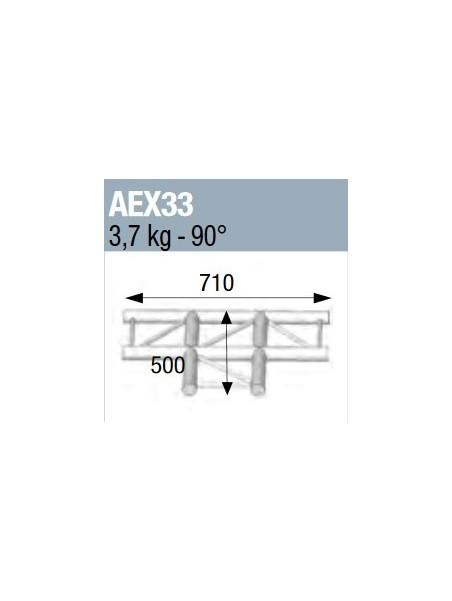 ASD - ANGLE 90° 3 DEPARTS A PLAT POUR ECHELLE PLATE 290 - AEX33