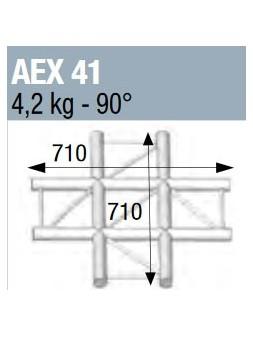 ASD - ANGLE 90° 4 DEPARTS A PLAT POUR ECHELLE PLATE 290 - AEX41