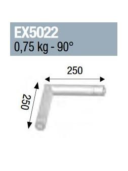 ASD - ANGLE 2D MONOTUBE 50X2 0m25 x 0m25 - EX5022