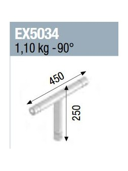 ASD - ANGLE 3D MONOTUBE 50X2 0m45 x 0m25 - EX5034