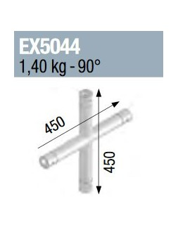 ASD - ANGLE 4D MONOTUBE 50X2 0m45 x 0m45 - EX5044
