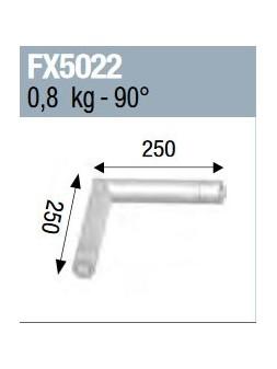 ASD - Angle 2 départs 90° lg 0m25 x 0m25 - FX5022