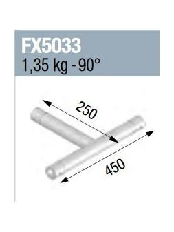 ASD - Angle 3 départs à plat 90° lg 0m45 x 0m25 - FX5033
