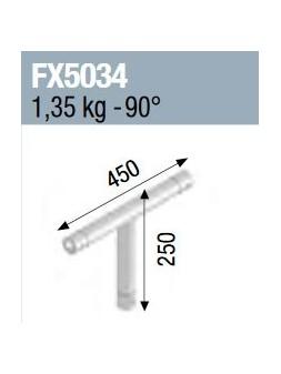 ASD - Angle 3 départs 90° vertical lg 0m45 x 0m25 - FX5034