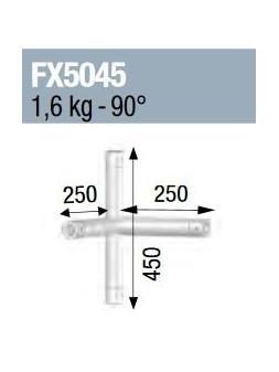 ASD - Angle 4 départs 90° pied lg 0m45 x 0m25 x 0m25 - FX5045