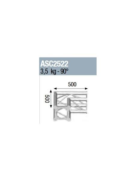 ASD - ANGLE 2D 90° SECTION 250 ALU CARRE - ASC2522