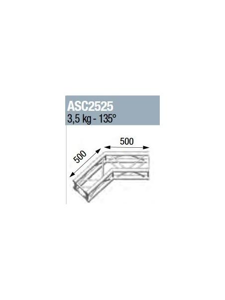 ASD - ANGLE 2D 135° SECTION 250 ALU CARRE - ASC2525