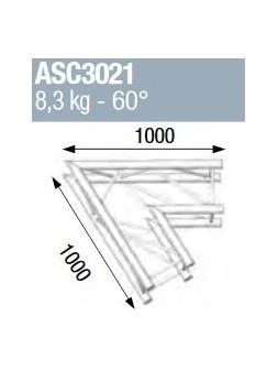 ASD - ANGLE ALU 290 CARRE 2 DEPARTS 60° - ASC3021