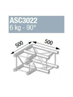 ASD - ANGLE ALU 290 CARRE 2 DEPARTS 90° - ASC3022