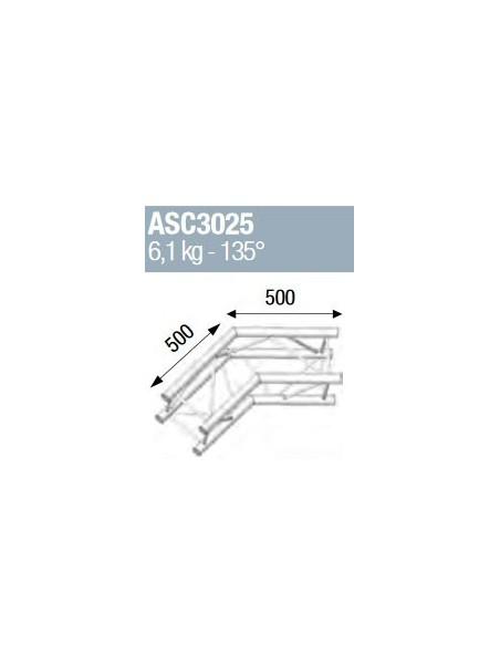 ASD - ANGLE ALU 290 CARRE 2 DEPARTS 135° - ASC3025
