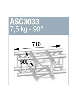 ASD - ANGLE ALU 290 CARRE 3 DEPARTS 90° A PLAT - ASC3033